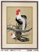 Tokyo Bunka Shishu 251 Rooster Chicken Japanese Punch Embroidery Kit