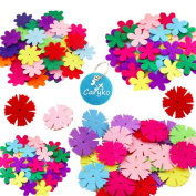 Caryko 3 Styles Craft Felt Flowers, Assorted Colour, 160 Pcs