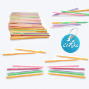 Caryko 50 Pcs 7.1cm Plastic Lacing Needles for Sewing and Weaving Crafts Safe for Children, Assorted Colours