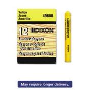 Dixon Ticonderoga Yellow Lumber Crayon 49600 - Pack of 12