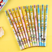 24pcs/set mixture HB Cartoon typs Pencils/ Drawing Pencils for Sketch/Secret Garden Colouring Book