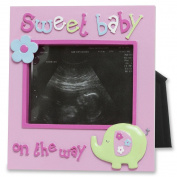 Baby girl sonogram photo frame