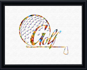 Aprilskys 5X7 Golf Ball Banner Canvas Art Print Wall Decor Home Décor Room Deco Inspirational Wall Art Gift A228