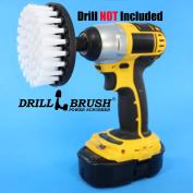 10cm Drill Brush Soft Bristle White Quick Change Shaft