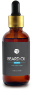Organic Premium Beard Oil - 100% Pure & Natural - Promote Beard Growth, Hydrates & Softens, Reduce Beard Itch
