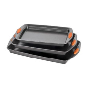 Bakeware Rachael Ray Oven Lovin' Nonstick Bakeware 3-Piece Baking and Cookie Pan Set New