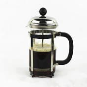 French Press Coffee and Teak Maker, 590ml, Stainless Steel and Hear Resistant Glass