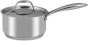 1.9l - 18/10 Stainless Steel - Saucepan - with Cover - 18 x 9cm - Multipurpose Use for Home Kitchen or Restaurant - Chef's Choice - By Utopia Kitchen