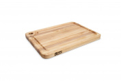 John Boos Prestige Wood Edge Grain Reversible Cutting Board with Juice Groove, 50cm x 38cm x 3.2cm , Maple