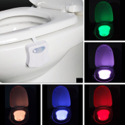 Toilet Nightlight Onever Colourful Motion Sensor Home Toliet Bathroom Human Body Auto Motion Activated Sensor Seat Night Lamp