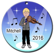 Violin Recital Personalised Ornament - Blonde Haired Boy