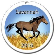 Wild Horse Personalised Ceramic Ornament