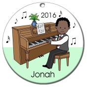 Piano Recital Personalised Ornament - African American Boy