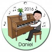 Piano Recital Personalised Ornament - Asian Boy