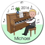 Piano Recital Personalised Ornament - Blonde Haired Boy