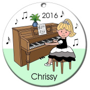 Piano Recital Personalised Ornament - Blonde Haired Girl