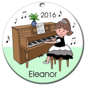 Piano Recital Personalised Ornament - Brown Haired Girl