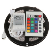 Lightinthebox® SUPERNIGHT 5-Metre 5m Waterproof RGB LED Strip Light Flexible Colour Changing RGB SMD3528 300 LEDs Light Strip Kit with 24 Key Remote
