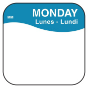 DayMark Safety Systems IT1100871 MoveMark Day of the Week Removable Label, MONDAY, 1.9cm x 1.9cm , Blue