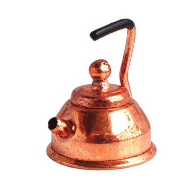 Bobominiworld Metal Coffee Pot Dollhouse Miniatures Decoration 1:12 Scale Height 2.5cm Copper