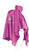 Biscount 3 IN 1 Multifunction Waterproof Hooded Rain Poncho Lightweight Cape With Reflecter Perfect for Hiking Hunting Camping Fishing Climbing Travel Outdoor Sports-Pink