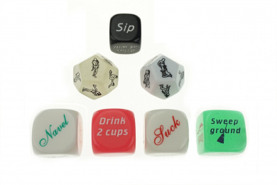 Bilipala 7 PCS Funny Polyhedral Dice, Adult Sex Dice, Drinking Game Dice, Housework Dice