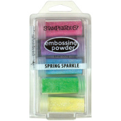 Stampendous Embossing powder 5/Pkg 270ml-Spring Sparkle, Assorted