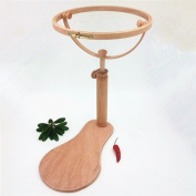 Dia24cm Tambour Embroidery Frame Wooden 360 Degree Rotatable Hoop Cross Stitch Frame High Adjustable