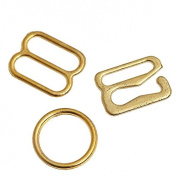 20set Gold Plated Lingerie Hardware Sewing Clips Clasp Hooks Bra Strap 10mm WB23