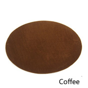 Repair Patches - 4 PCS Elbow Knee Velvet Iron-on Patches, Round & Coffee - by Beaulegan