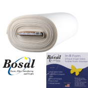 Bosal In-R-Form Single Sided Fusible Foam Stabiliser, Off White, 150cm wide, By the Half Yard Cut From the Bolt