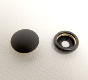 Snap Cap & Socket, Black Oxide Coated Brass, 25 of Each Piece Government Black, Line 24 Standard Size Snaps