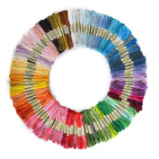 Soledi Cross Stitch Floss 50 Skeins Premium Rainbow Colour Embroidery Floss Sewing Threads