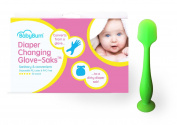 BabyBum Nappy Cream Brush (Green) & Nappy Changing Glove-Saks