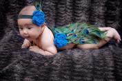 Huijukon Newborn 0-6 Months Baby Girls Boys Cute Peacock Crochet Knit Costume Headband Photography Prop