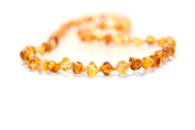 The Art of Cure Baltic Amber Adult Necklace 43cm -(1x 1) FTIR Lab Tested Authentic Amber