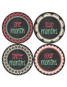 Months in Motion 391 Monthly Baby Stickers Baby Girl - Months 1-12 - Chalkboard