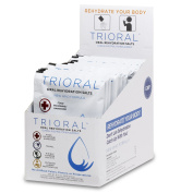 TRIORAL - Oral Rehydration Salts ORS (15, One Litre Packets/Box) World Health Organisation (WHO) New Formula for Food Poisoning, Hangovers, Diarrhoea, Electrolyte Replacement