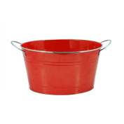 Country Home Big Red Galvanised Metal Tub by Twine