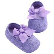 CHIC-CHIC Newborn Baby Girl Soft Sole Anti-slip Bowknot Lace Princess Toddler Shoes First Step Walker Shoes