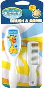 Griptight - Giraffe Design Soft Bristle Brush and Comb Set