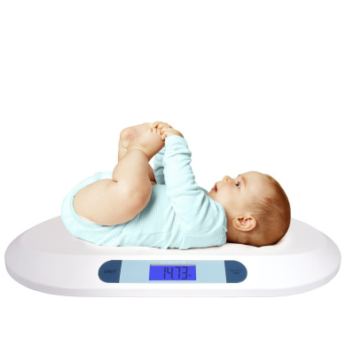 Smart Weigh Comfort Baby Scale Digital with Large Backlit LCD Display, 3 Weighing Modes and Tare Feature, 20 kg / 44 lb, for Infant, Baby and Toddler