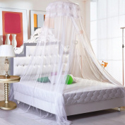 PePeng Extra Large Hanging Mosquito Net for Beds up to 180cm , Canopy Netting Curtain Dome to Keep Fly Midges Insect Out for Home, Travel or Garden