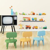 Decowall,DW-1612,Construction Site peel & stick Nursery wall decals stickers