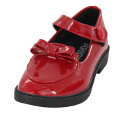 Maxu Bowtie Decorations Princess Patent Leather Performance Shoes