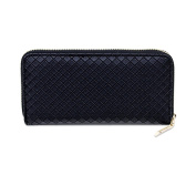 New Multi-functional Women's Ladies Clutch Coin Purse PU Leather Classic Zipper Wallet Chequered Texture Phone Case Bags Evening Prom Bags Black