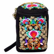 embroidery Flower Retro Ethnic Travel Clutch Satchel Small Handbag Shoulder Bag
