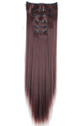 FLORATA Charming 70cm Long Straight 18 Clips 8 Piece Full Head Clip in Hair Extension