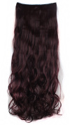 FLORATA 70cm Premium Long Curly 3/4 Full Head One Piece 5clips Hair Piece Clip in Hair Extensions