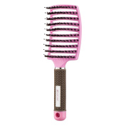 Kaiercat Boar Bristle Brush-Best at Detangling Thick Hair Vented For Faster Drying-100% Natural Boar Bristles for Hair Oil Distribution